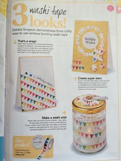 3 Looks with Washi Tape Commission for Papercraft Inspirations 149 March 2016