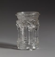 #RockCrystal ~ Dish in the Form of a Temple Date: 3rd–5th century Culture: Roman or Byzantine Medium: Rock crystal