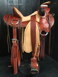 New skeleton wade saddle from our Master Collection. 2-tone Hermann Oak leather & Timberline tree.
