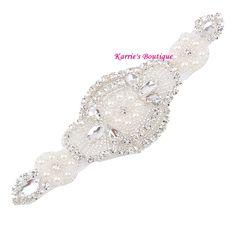 Diadema de diamantes de imitación / blanco / por KarriesBoutique
