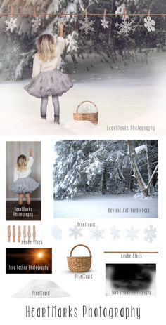 Imagine Photoshop Composite Hanging Snow by HeartMarks Photography