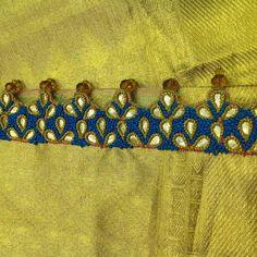 Saree Tassels Designs, Saree Kuchu Designs, Blouse Designs, Learn Embroidery, Neck Design, Hard Work, Flower Art, Carpets, Blouses