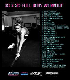 30 x 30 Full Body Ultimate Endurance Workout. Can be easily done at home while the kids watch TV. Endurance Workout, Endurance Training, Fitness Show, Health Fitness, 5am Club, Korean Beauty Routine, Face Care Routine, Ultimate Workout, Fun Workouts