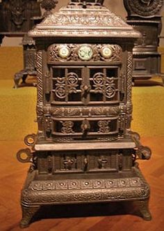 stoves whose ornate decoration reflected victorian