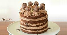 Nutella Ferrero Rocher Kuchen mit Nutella Buttercreme und Sahne Füllung Rezept