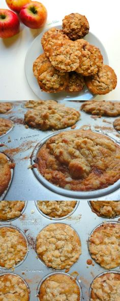 Vegan Apple Crumble Muffins (Apfelstrudel cakes) - A delicious, low-fat muffin that makes the perfect breakfast or snack! - Ceara's Kitchen