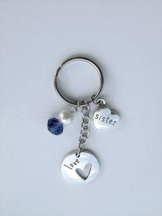 Sister Keyring, Sister keychain, I love you Sister keychain, purple keychain
