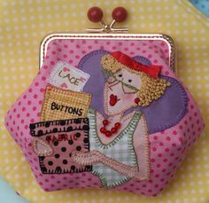 Red Brolly - Latest Craft Tips & Product Recommendations Purse Patterns, Applique Patterns, Sewing Crafts, Sewing Projects, Red Brolly, Brollies, Frame Purse, Art Textile, Fabric Bags