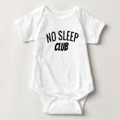 No Sleep Club | Baby Bodysuit - baby gifts child new born gift idea diy cyo special unique design