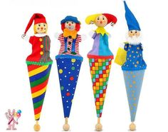 Brand baby cute clown pop up puppets/ wooden telescopic stick doll/ kids children birthday gifts /hand puppet plush doll toys