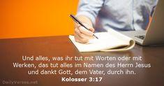 Kolosser 3:17 - dailyverses.net