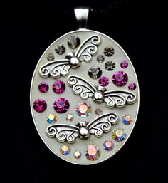 BUTTERFLIES pendant necklace by SilverArti on Etsy