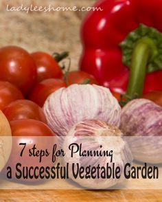 Before all the wonderful seed catalogs start coming in the mail, let's plan the garden right. So you don't end up with too many seeds and no space to plant them. 7 Steps for Planning a Successful Vegetable Garden. #LadyLeesHome