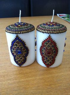 hand crafted henna candles by henna dezignz