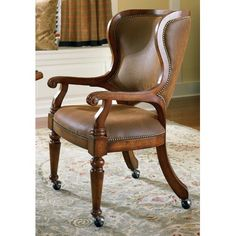 Shop for Hooker Furniture Waverly Place Tall Back Castered Game Chair, and other Bar and Game Room Chairs furniture. Dining Arm Chair, Upholstered Dining Chairs, Dining Room Chairs, Office Chairs, Desk Chair, Patio Chairs, Gaming Chair, Dining Tables, Swivel Chair