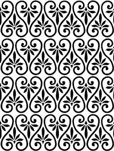 The Background Fairy: Ornamental Pattern - Simple Swirls - Overlay