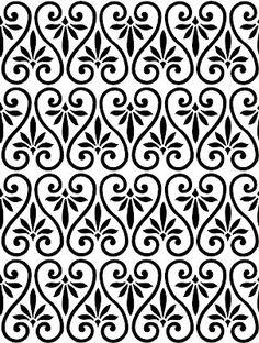 The Background Fairy: Ornamental Pattern - Simple Swirls - Overlay