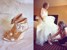 LOVE these shoes for my wedding. Wedges are a great shoe that you can wear all night without your feet killing you...