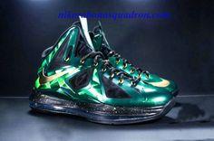 the best attitude 2aa68 037c3 Hot Nike Lebron X 10 Emerald Custom Green Black