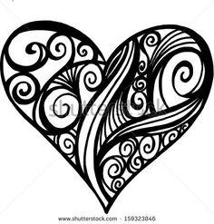 Illustration Doodle of a Filigree Heart