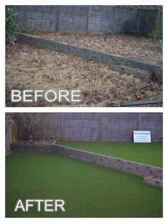 Artificial Grass Very Modern cut with straight lines.