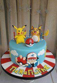 Pokémon Pikachu Raichu cake