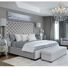 Modern Bedroom Carpet Ideas - Future Home - Bedroom Decor Grey Bedroom Design, Simple Bedroom Design, Bedroom Ideas Grey, Modern Grey Bedroom, Bedroom Sets, Bedroom Ideas Master For Couples, Bedroom Décor, Classy Bedroom Ideas, Bedroom Colors
