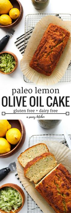 One bowl paleo lemon olive oil cake | grain free flours, no refined sugars, ginger, lemon zest & olive oil. | Gluten Free + Dairy Free