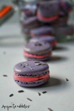 These lavender macarons with rosewater #buttercream filling are easy to make from @Anyonita Nibbles Nibbles Nibbles