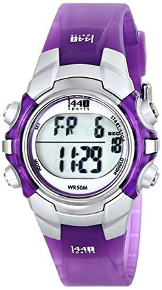 Timex - 1440 Sports Watch, Mid-Sized, Purple I want for cheer!