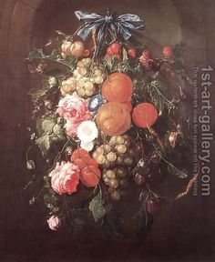 Still-Life with Flowers 1660 by Cornelis De Heem