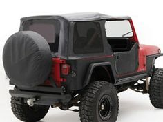 Rampage Roll Bar Cover Windshield Braces Pair 87-95 Jeep Wrangler YJ Black Denim