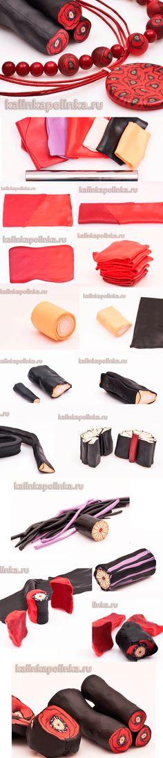 Kalinkapokinka poppy cane polymer clay tutorial. Use Google translate