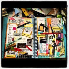 """Never knew my journal was called a """"smash book"""" until now!!! I've been doing them for years and never knew it..."""