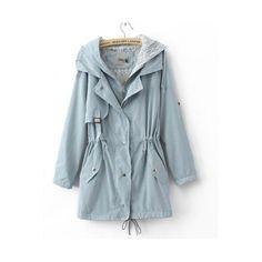 Blue Parka ($36) ❤ liked on Polyvore