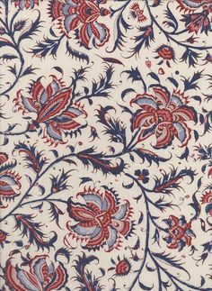 $17.50/y Reproduction Fabrics - turn of the 19th century, 1775-1825 > fabric line: Dutch Heritage Gujarat