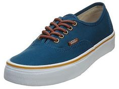 Vans Authentic Mens VN-0W4N-DQA Moroccan Blue Casual Shoes Sneakers Size 7