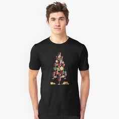 'Wine Lovers Christmas Tree' T-Shirt by SchoomDesigns My T Shirt, Funny Design, Tshirt Colors, Wardrobe Staples, Female Models, Chiffon Tops, Funny Tshirts, Classic T Shirts, Shirt Designs