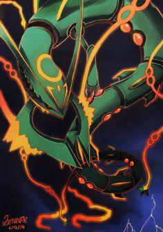 I really enjoy the mega form of Rayquaza. Hope you like^^ Art by me Rayquaza by Nintendo/Pokemon Mega Rayquaza- Pokemon Rayquaza Pokemon, Mega Rayquaza, Pokemon Firered, Nintendo Pokemon, Pokemon Memes, Pokemon Funny, Pokemon Cards, Rayquaza Wallpaper, Flying Type Pokemon
