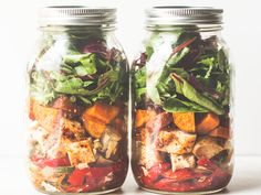 Get this all-star, easy-to-follow Southwestern Chicken Fajita Mason Jar Salad recipe from Food Network