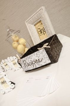 Bridal Shower Ideas - each guest brings a special recipe to help the bride-to-be grow her recipe book