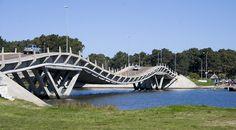 La Barra Bridge, Punta del Este, Uruguay   Love this wavy gravy, hippy dippy bridge to La Barra, Manantiales and beyond to Jose Ignacio