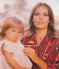 Natalie Wood with daughter Courtney