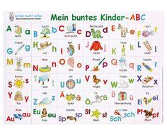 Buntes Kinder-#ABC, #Poster - Schöne  Illustrationenen - Abwaschbar #betzoldkiga #Alphabet #Betzold
