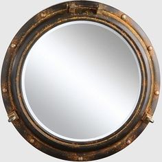 Porthole mirror mirrors restoration hardware baby for Restoration hardware round mirror