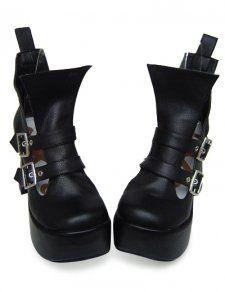 c13ee5dec5d 3 1 2 High Heel 2 Platform Black PU Lolita Shoes  54.99