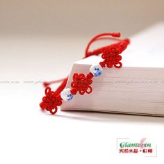 Red String Bracelet Macrame Friendship Good Luck Chinese Knot Ceramic Procelain Beads Fibre Cord Thread