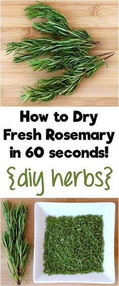 Designs For Garden Flower Beds How To Dry Fresh Rosemary In 60 Seconds Turn Your Homegrown Herbs Into Diy Herbs For Your Cupboard With This Simple Little Trick From Rosemary Recipes, Herb Recipes, Rosemary Ideas, Loquat Recipes, Sante Bio, How To Dry Rosemary, Rosemary Herb, Homemade Spices, Cooking Tips