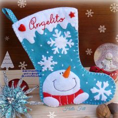 65 Ideas Sewing Christmas Stockings Free Pattern Tutorials For 2019 Felt Christmas Stockings, Christmas Stocking Pattern, Felt Christmas Ornaments, Christmas Sewing, Christmas Fun, Felt Stocking, Christmas Projects, Felt Crafts, Holiday Crafts