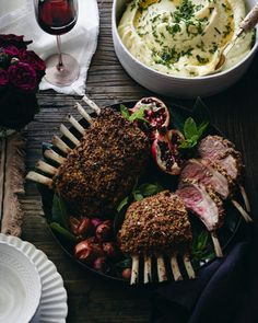 Pistachio Crusted Rack Of Lamb With A Pomegranate Port Sauce Recipe ...